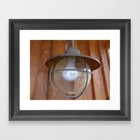 Lighting Globe Framed Art Print