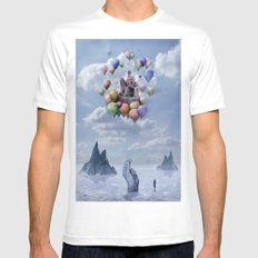 Sweet Castle White SMALL Mens Fitted Tee