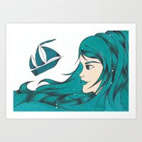 Poseidon Goddess Of The … Art Print