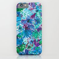 iPhone & iPod Case featuring Wildflower Blue by Amy Sia