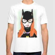 Batgirl SMALL White Mens Fitted Tee