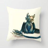 Toothless Throw Pillow