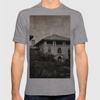 Plymouth County Hospital Front facade Mens Fitted Tee Athletic Grey SMALL