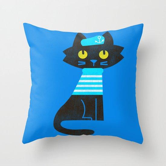 Fitz - Sailor cat Throw Pillow