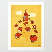 We were tomatoes! Art Print