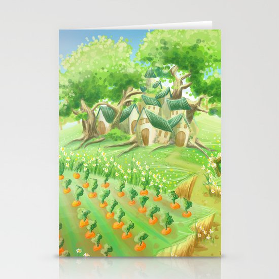 Carotte deluxe, concept art Stationery Card