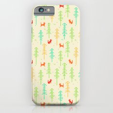 Foxes hiding in the forest iPhone 6 Slim Case