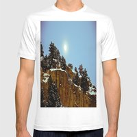 Snowy Night Mens Fitted Tee White SMALL