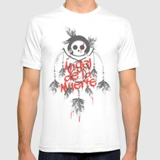 Angel de la Muerte - RED Mens Fitted Tee White SMALL