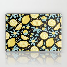 Lemon Pattern Black Laptop & iPad Skin