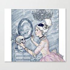 Marie Antoinette Halloween Select Color Canvas Print