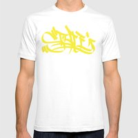 Style yellow marker art Mens Fitted Tee White SMALL