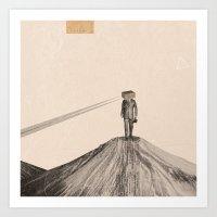 Walking Man Art Print