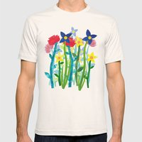 Wild Flowers Mens Fitted Tee Natural SMALL