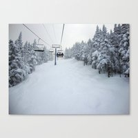 Skiing Vermont Canvas Print