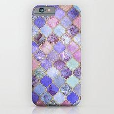 Royal Purple, Mauve & Indigo Decorative Moroccan Tile Pattern iPhone 6s Slim Case