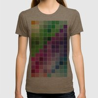 Multicolor Womens Fitted Tee Tri-Coffee SMALL