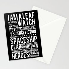 Firefly Subway Poster Stationery Cards