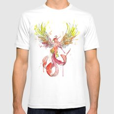 Phoenix White SMALL Mens Fitted Tee