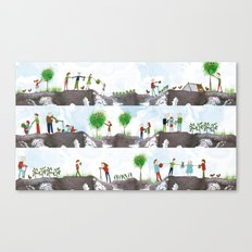 A DAY ON THE ALLOTMENT Canvas Print