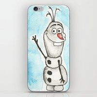 Watercolor Olaf iPhone & iPod Skin