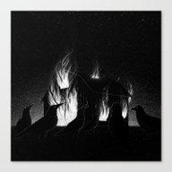 Drawlloween 2015: Raven Canvas Print