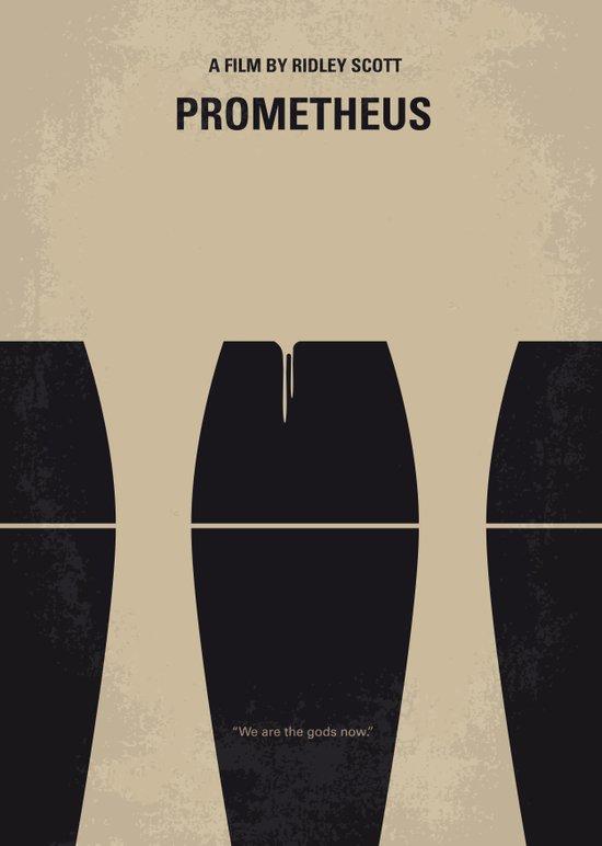 No157 My Prometheus minimal movie poster Art Print
