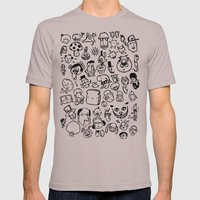 Comic Sans Mens Fitted Tee Cinder SMALL