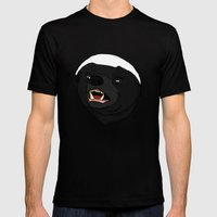 Honey Badger Mens Fitted Tee Black SMALL