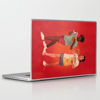 pulp fiction Laptop & iPad Skins featuring Pulp Fiction by Dave Collinson