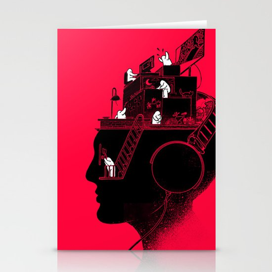 Everyday is a New Soundtrack Stationery Card