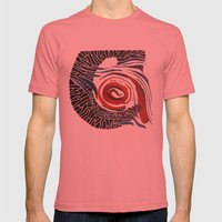 Horn-swirl Mens Fitted Tee Pomegranate SMALL