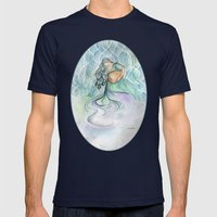 Aquarius Mens Fitted Tee Navy SMALL