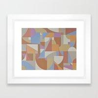 1 Inch Manila Grid Framed Art Print
