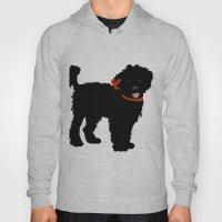 Black Labradoodle Dog Hoody