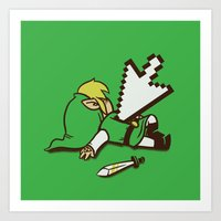Dead Link Art Print