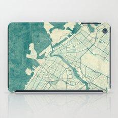 Dubai Map Blue Vintage iPad Case