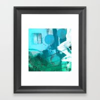 LIL' DITTY I, Blue Framed Art Print