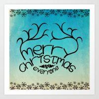 merry christmas everyone Art Print