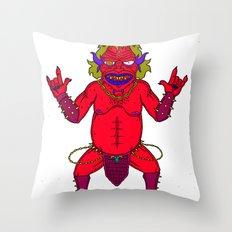 Fat Demon Throw Pillow
