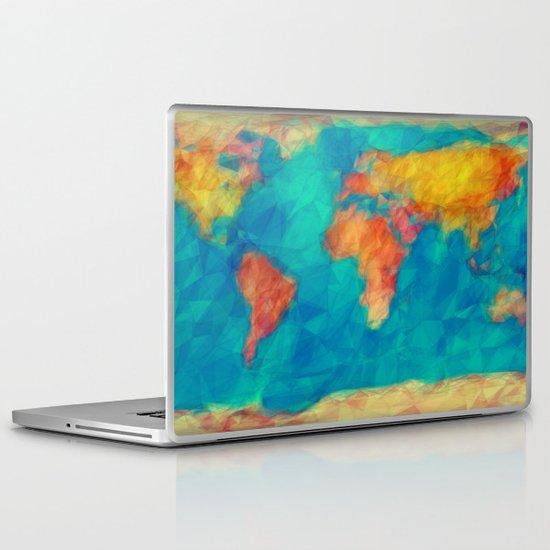 World Map Laptop & iPad Skin