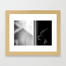 the passerby Framed Art Print