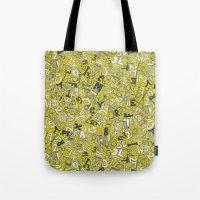 A1B2C3 chartreuse Tote Bag