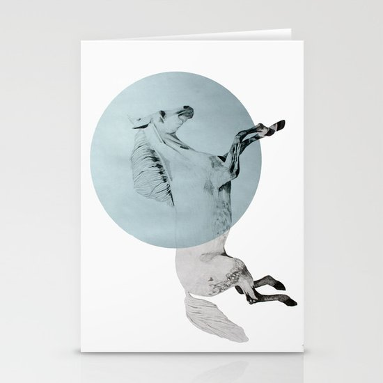 white horse Stationery Card
