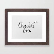 Chocolate Lover Framed Art Print