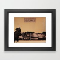 Man's Power Framed Art Print
