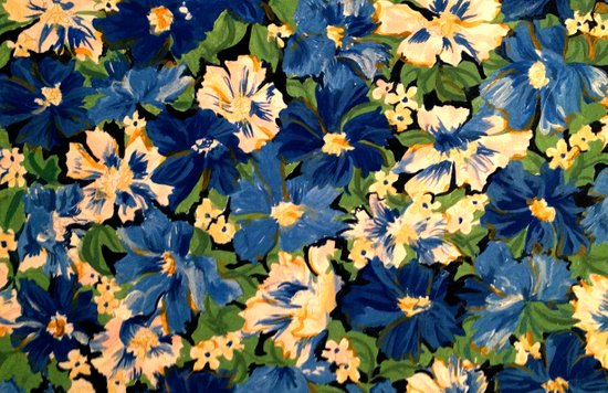 Flower Fabric Art Print