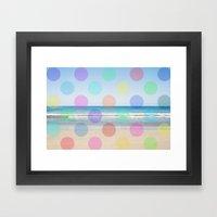 Polka Dot Beach  Framed Art Print