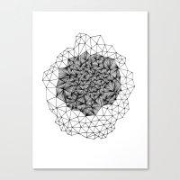 Geode Geometry Canvas Print