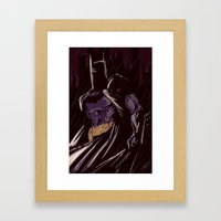 Darkest Knight Framed Art Print